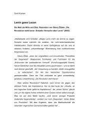 Lenin goes Lacan - Gerd Koenen