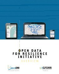 Open Data for Resilience Initiative (OpenDRI) - Overview - GFDRR