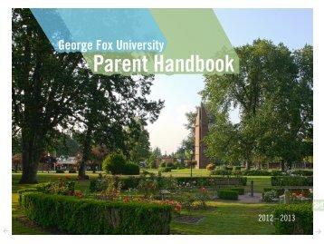 Parent Handbook PDF - George Fox University