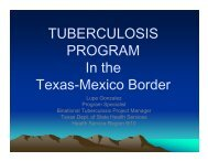 Binational TB - Texas Department of State Health Services