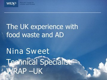 The UK experience with food waste and AD - Global Methane Initiative