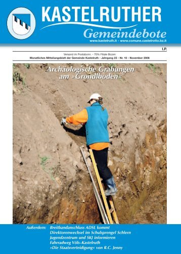 Kastelruther Gemeindebote - Ausgabe November 2006 (2,9 Mb)