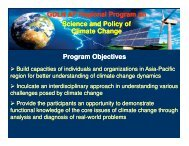 Science and Policy of Climate Change - GDLN Asia Pacific
