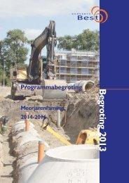 Programmabegroting 2013 en meerjarenraming - Gemeente Best