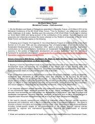 6th World Water Forum Ministerial Process ? Draft ... - Globe Spotting