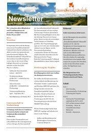 Newsletter - Gesundheitslandschaft Vulkaneifel