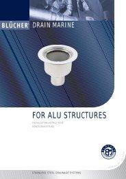 BLÜCHER® Drain Marine Für Aluminium Deck