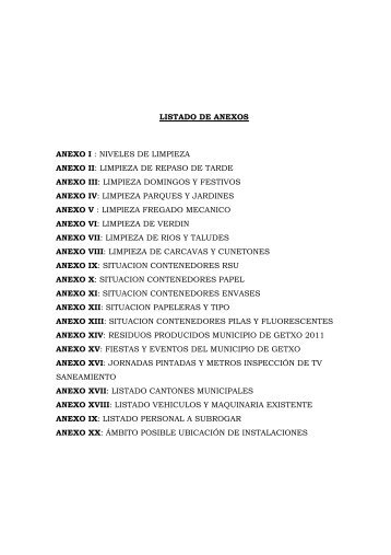 Listado de Anexos (PDF / 2 Mb) - Getxo