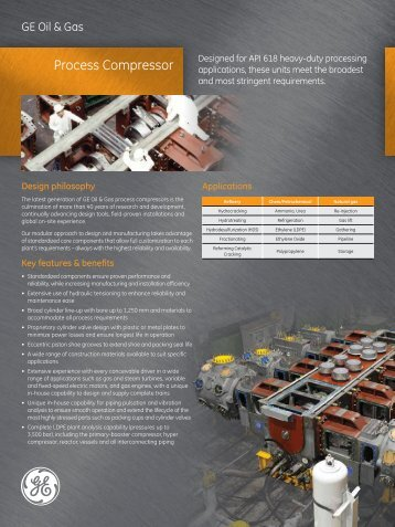 Process Compressor - GE Energy