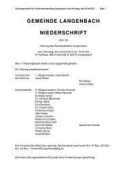 Gemeinderatssitzung vom 09.04.2013 - Langenbach