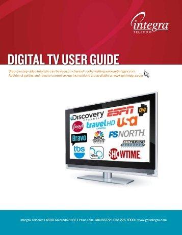 DIGITAL TV USER GUIDE - Integra Telecom