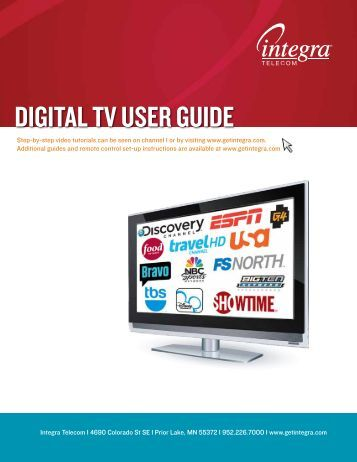 DIGITAL TV USER GUIDE - Integra Telecom