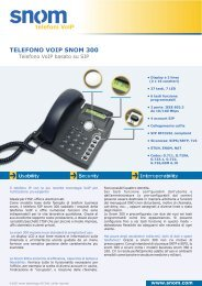 TELEFONO VOIP SNOM 300 telefoni - Voice@work
