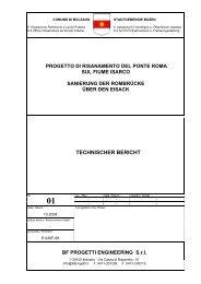 TECHNISCHER BERICHT - Stadtgemeinde Bozen