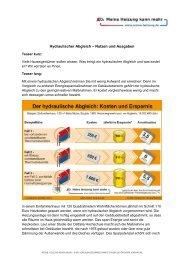 Hydraulischer Abgleich – Nutzen und Ausgaben - Gemeinde ...