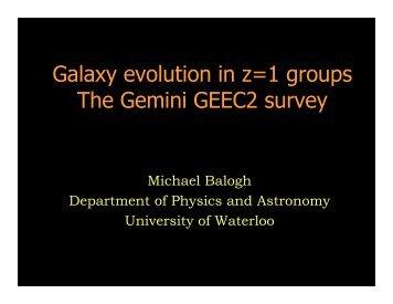 Galaxy evolution in z=1 groups The Gemini GEEC2 survey