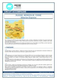 CIRCUIT ACCOMPAGNÉ RUSSIE, MONGOLIE, CHINE Siberian ...
