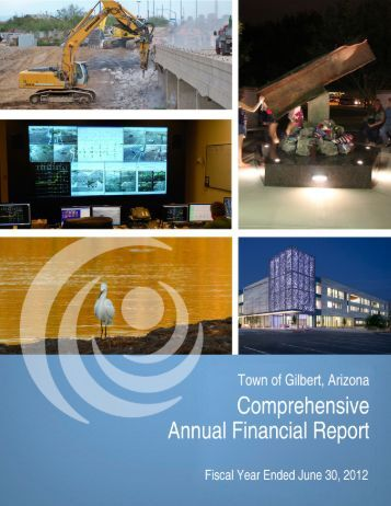 Comprehensive Annual Financial Report - Town of Gilbert