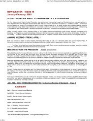 Newsletter Jan-Feb 2005 - German Society of Maryland