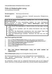 Föhn-& Wettertropfen comp - Glenwood GmbH