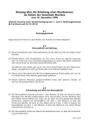 Hundesteuersatzung - Gemeinde Brechen