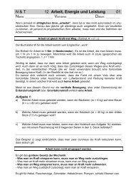 N & T 12 Arbeit, Energie und Leistung 01 - Gegenschatz.net