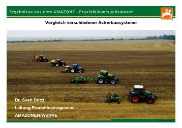 Vergleich verschiedener Ackerbausysteme - bei der GKB eV