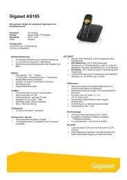 Gigaset AS185 - Telefone