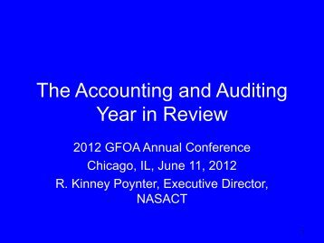 The Accounting and Auditing Year in Review - Government Finance ...