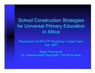School Construction Strategies for Universal Primary Education in ...