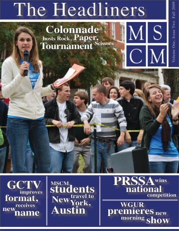 MSCM Newsletter Fall 2009 - Georgia College & State University