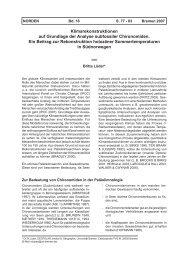 Klimarekonstruktionen auf Grundlage der Analyse subfossiler ...