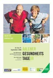 1. Aalener Gesundheitstage - Schwäbische Post