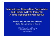 Internet Use, Space-Time Constraints and Human Activity Patterns ...