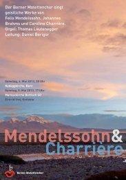 Konzert - Berner Motettenchor