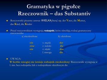 Gramatyka w pigułce - rzeczownik