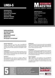 Bedienungsanleitung - GermanMAESTRO