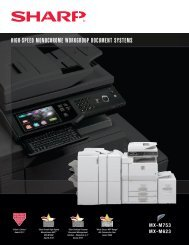mx m623n brochure - Shore Business Solutions