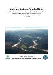 Studie zum Gewässerpflegeplan Mühltal - Gregor Louisoder ...