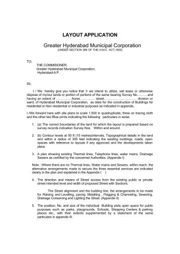Layout Application - Greater Hyderabad Municipal Corporation