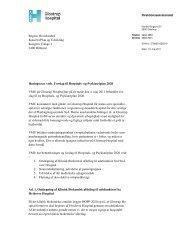 Samlet høringssvar - Glostrup Hospital