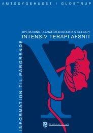 INTENSIV TERAPI AFSNIT - Glostrup Hospital