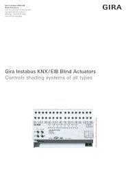 Gira Instabus KNX / EIB Blind Actuators