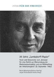 30 Jahre ?Lambsdorff-Papier?. Texte und Dokumente zum - Geschichte