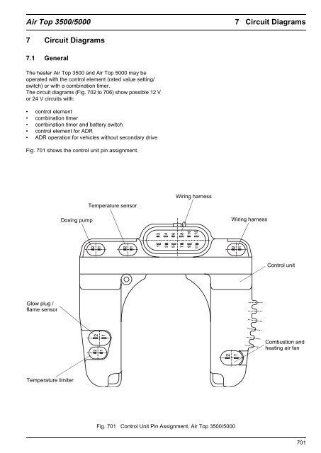 Webasto Airtop 3500 5000 Circuit Diagrams - Giordano Benicchi on