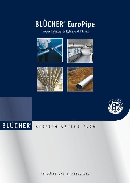 BLÜCHER® Europipe Produktkatalog für Rohre und Fittings