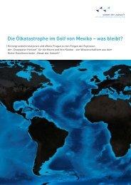 Die Ölkatastrophe im Golf von Mexiko – was bleibt? - Geomar