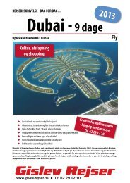 Dubai - Gislev Rejser