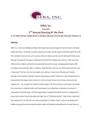 SERA, Inc. 2 Annual Dancing N' the Park - Downtown Raleigh Alliance