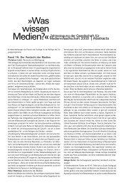 Was wissen - Gesellschaft für Medienwissenschaft e.V. (GfM)